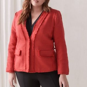 VINCE CAMUTO Tweed Blazer Red Size